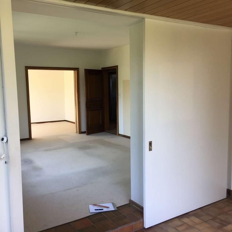 Sanierung Wohnhaus in Binningen, Wohnzimmer vorher