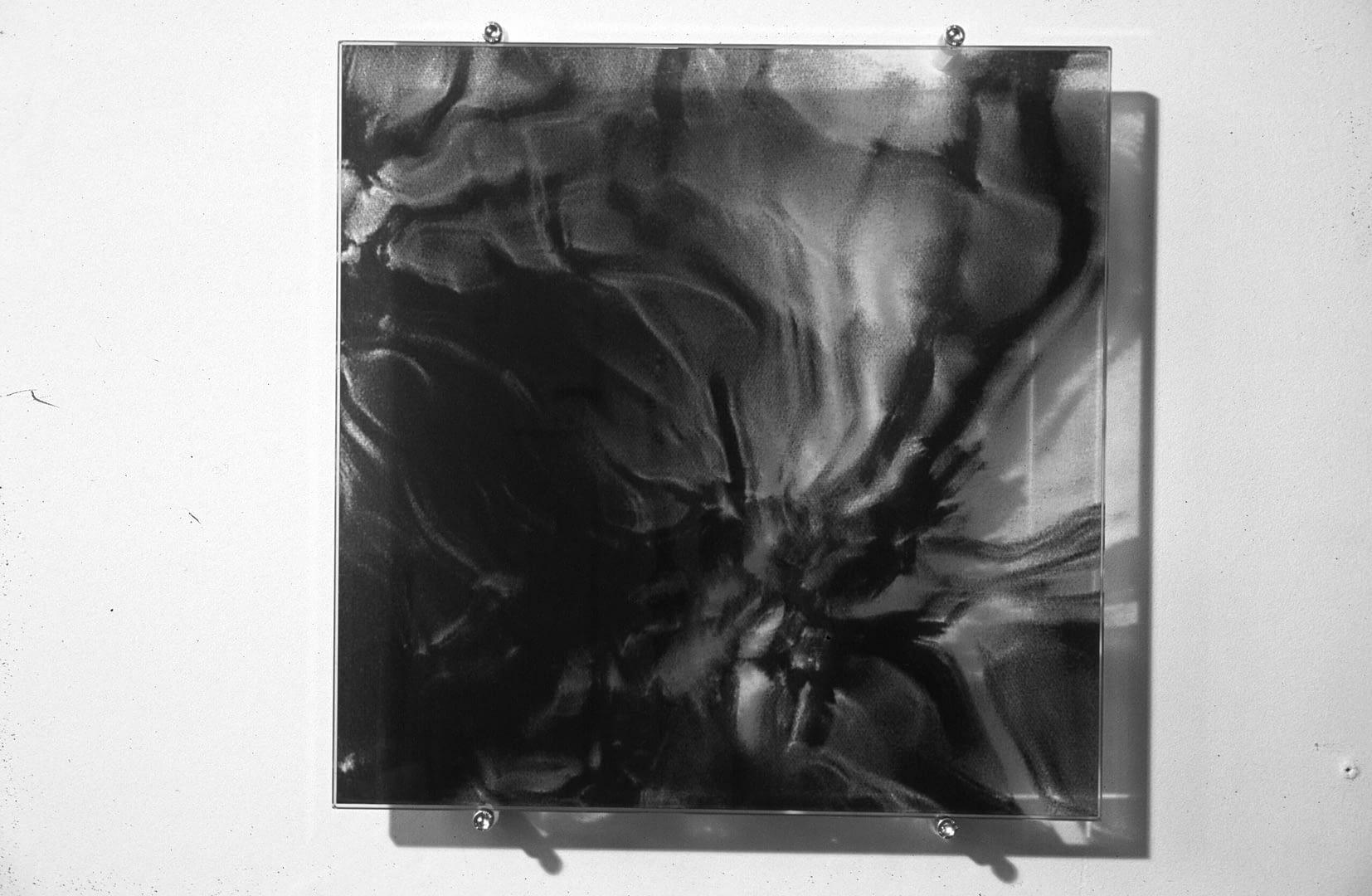 Siebdruck auf Glas, 30x30cm, 2002