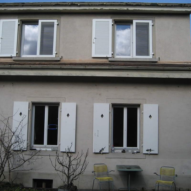Umbau Reiheneinfamilienhaus Basel, Aussenansicht vorher