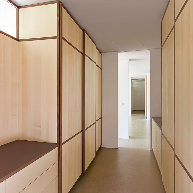 Sanierung Wohnung in Erlenbach, Umkleide