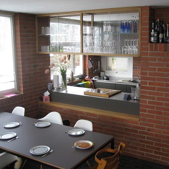 Sanierung Wohnung in Zürich Witikon, Vitrine vorher