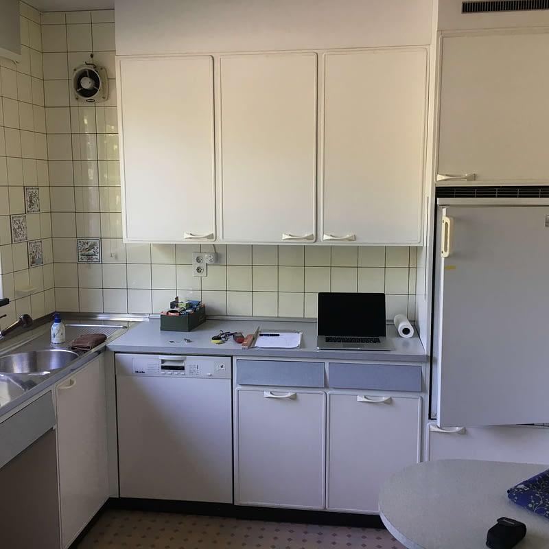 Sanierung Wohnhaus in Binningen, Küche vorher