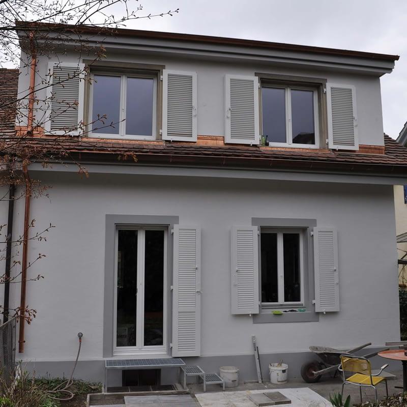 Umbau Reiheneinfamilienhaus Basel, Aussenansicht