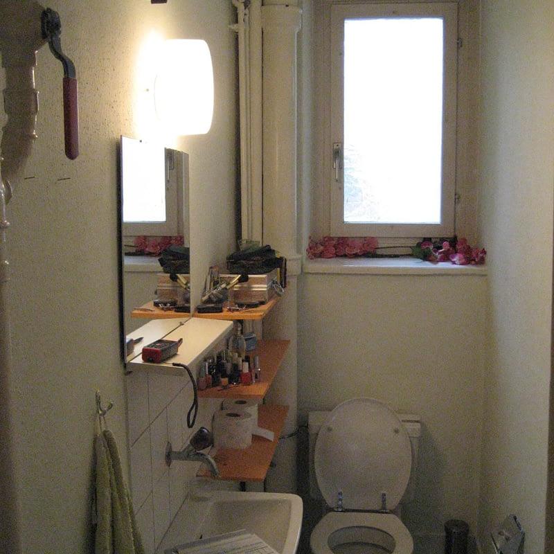 Sanierung Mehrfamilienhaus in Zürich Wipkingen, Toilette vorher
